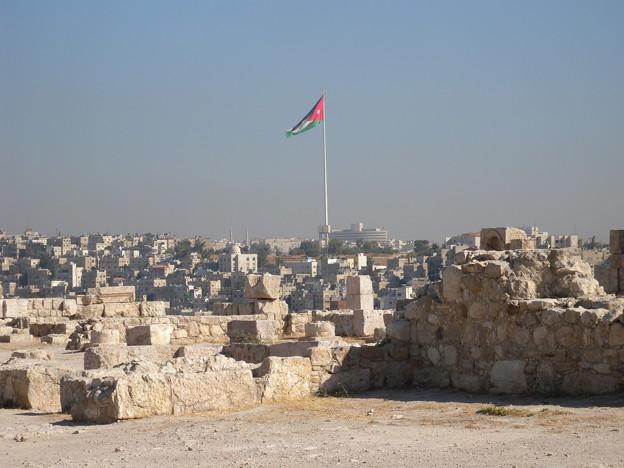 Jordan アンマンの巨大国旗