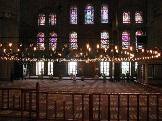 Turkey イスタンブール ブルーモスク 祈り