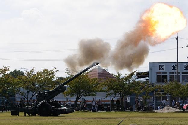 D300s_20131006_551 模擬戦闘 155mm榴弾砲