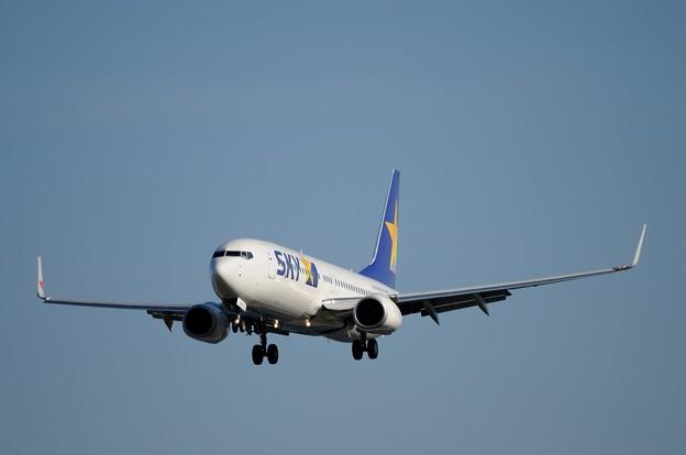 D300s_20140107_0263 米子空港 スカイマーク B-737