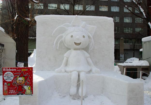 リボンちゃん(雪像)(2)