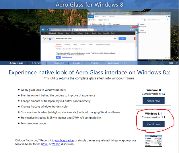 Aero Glass for windows8.1(11)