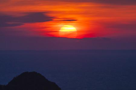 西伊豆の夕陽(2)