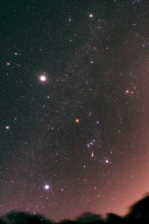 冬の1等星+木星