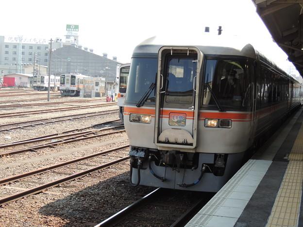 臨時急行『いせ』が伊勢市駅に停車(2)
