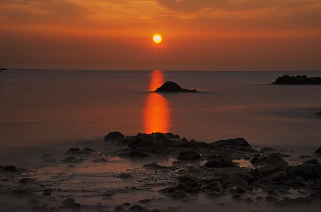 静寂な夕日