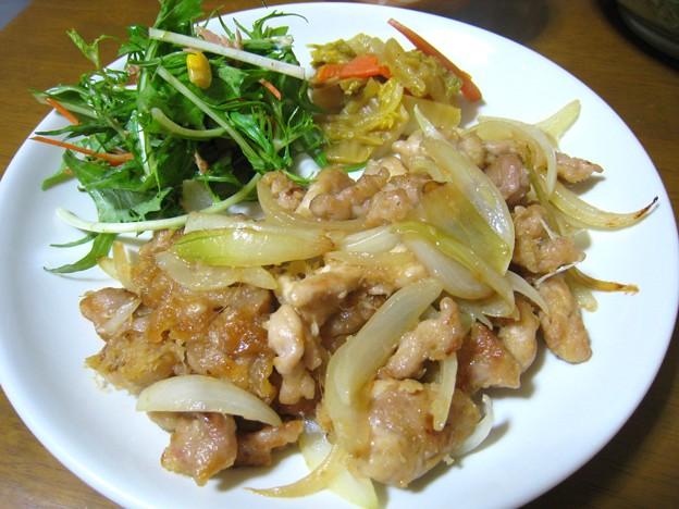 今夜は豚の生姜焼き定食…