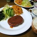 Photos: チーズinハンバーグ定食風…