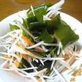 Photos: 大根と人参とワカメのサラダ…