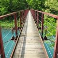 抱返り渓谷の吊橋