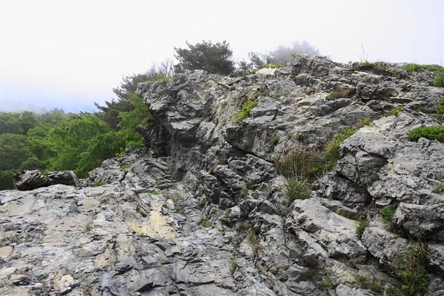 海辺の断崖