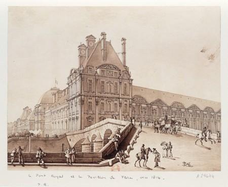 Paris-PontRoyal-PavillonDeFlore-1814