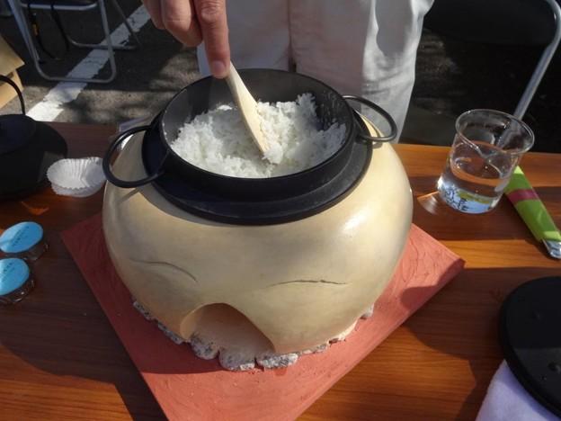 卓上釜戸で炊いたご飯 最高に美味しい