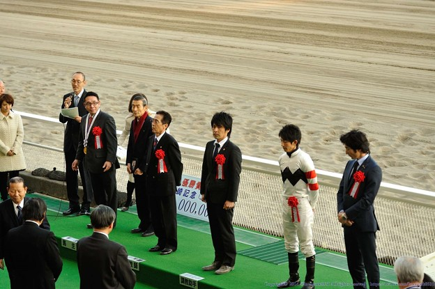 [川崎記念14]表彰式。生産者さんお休みですか・・・