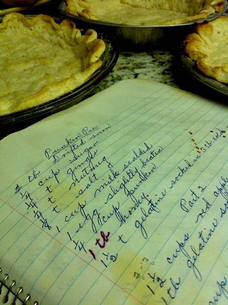 Grandma's old old Pumpkin Pie Recipe