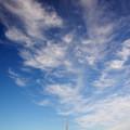 空にエアブラシで描いた様な雲