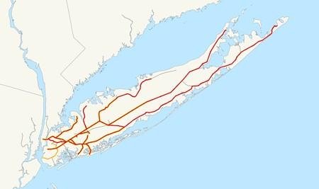 ロングアイランド鉄道 路線図
