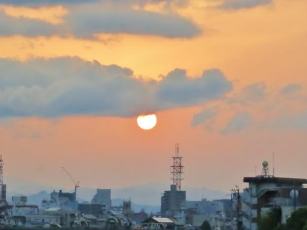朝焼けの空
