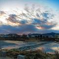 Photos: 鏡川の朝空.4