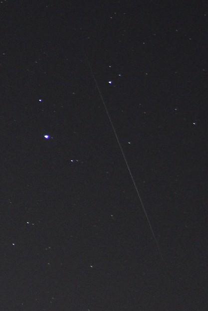 12月14日、オリオン座の右下に見えた流星(2)