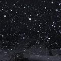 1月28日、未明の雪