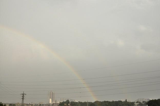 7月7日、夕立の後の空の虹