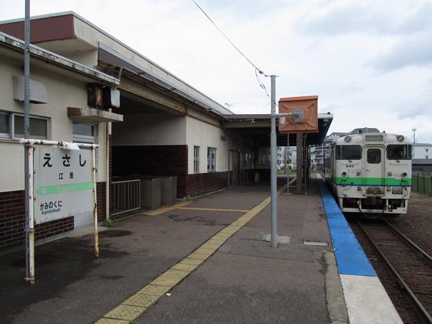 江差駅に停車中のキハ40形