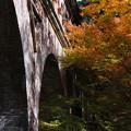 水路閣と紅葉
