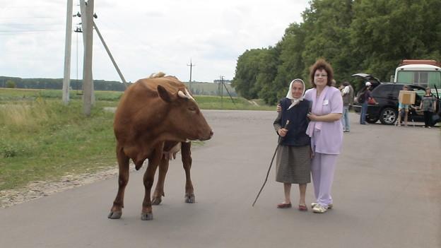 おばあちゃんと牛と…