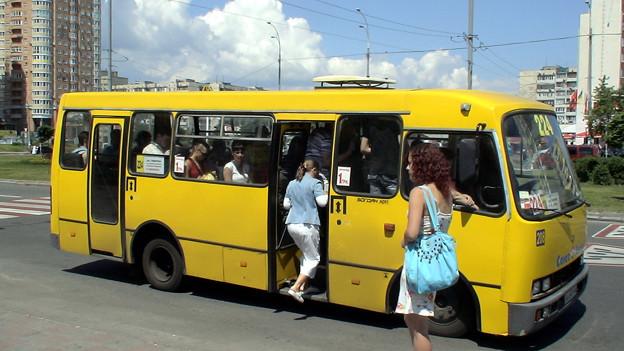 キエフ市内の路線バス