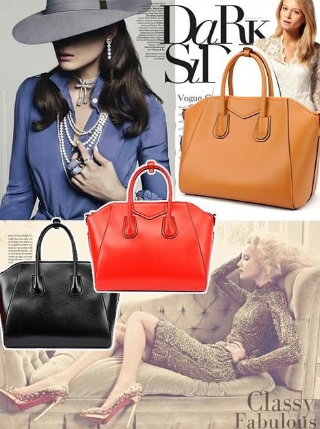 Large leather shoulder bags