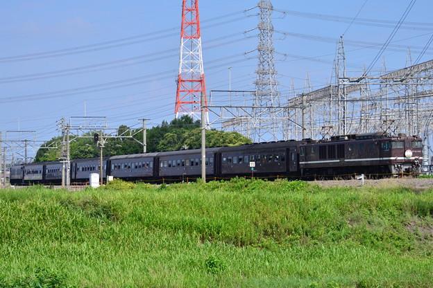 【9830レ】EF64-1001+旧客+EF64-37「レトロ高崎線130周年号」
