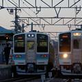 飯田線、初めての211系交換。