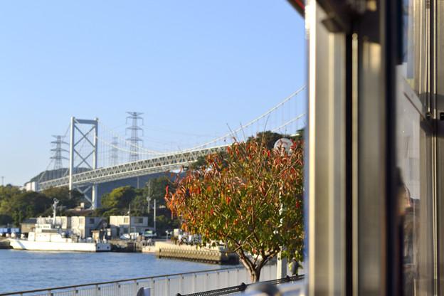 関門橋の秋