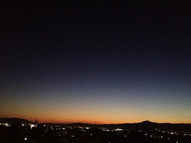 9/25 の夕照 比叡山