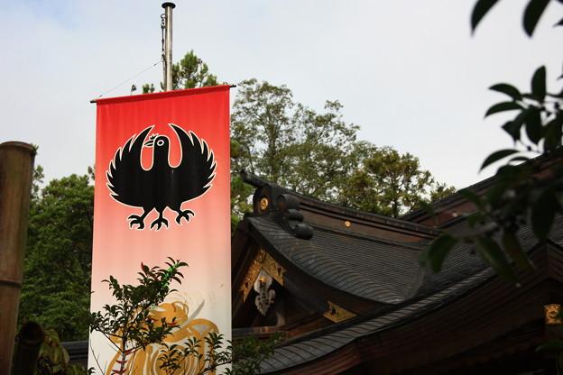 写真: 本宮大社と八咫烏