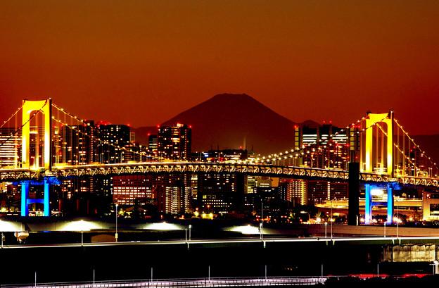 赤富士レインボー