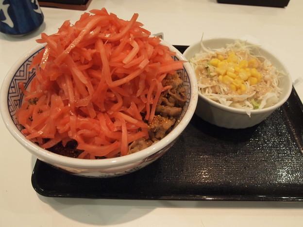2013/06/05 吉野家牛丼並盛つゆだく+野菜サラダ