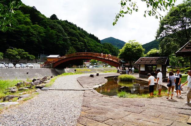 2012-08奈良井宿の木曽の大橋 (3)