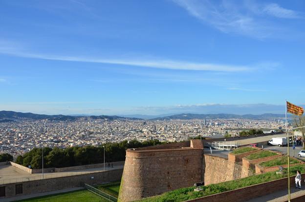 モンジュイック城からバルセロナ