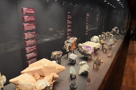 アフリカ博物館。貴重そうな石がいっぱい