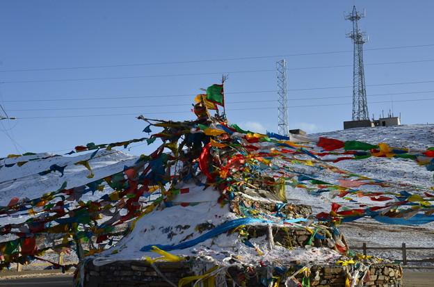 写真: チベットフラグ
