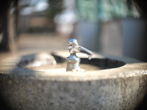 公園の水道─Angenieux 25mm F0.95