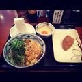 丸亀製麺:イカ磯辺バラ天 おろしぶっかけ うどん