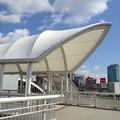 写真: ささしまライブ駅の改札口前にある屋根