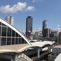 写真: ささしまライブ駅の屋根越しに見た名駅ビル群 - 1