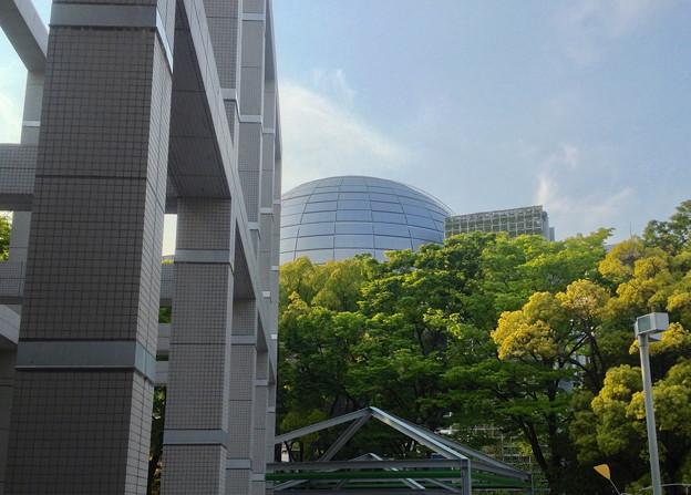 Photos: 名古屋市美術館から見た名古屋市科学館ブラザーアースの頭頂部 - 2