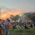 写真: 名古屋みなと祭 2013:花火開始15分前のポートハウス前
