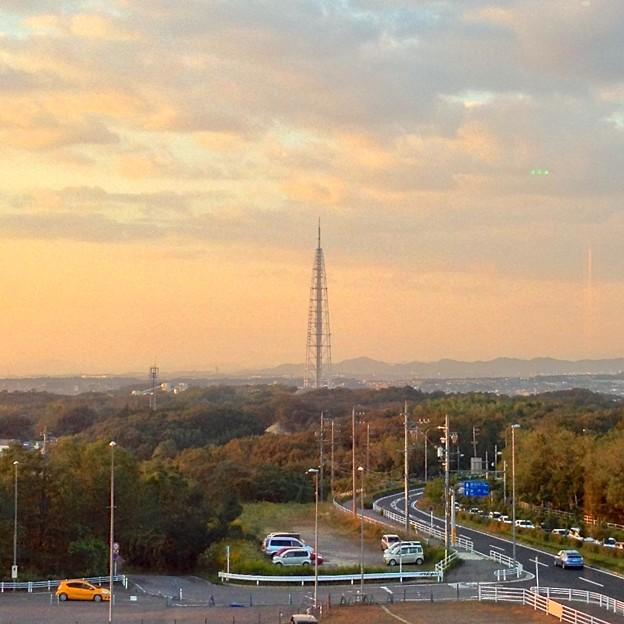 リニモ:愛・地球博記念公園駅から見た、瀬戸デジタルタワー - 2