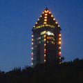 写真: 東山スカイタワーのクリスマス・イルミネーション